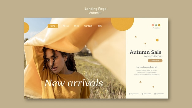 Autumn new arrivals landing page template
