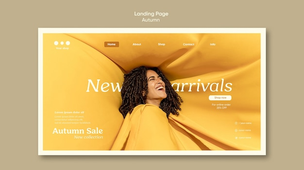 Autumn new arrivals landing page