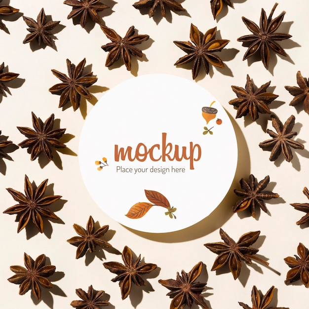 Autumn pattern mock-up design