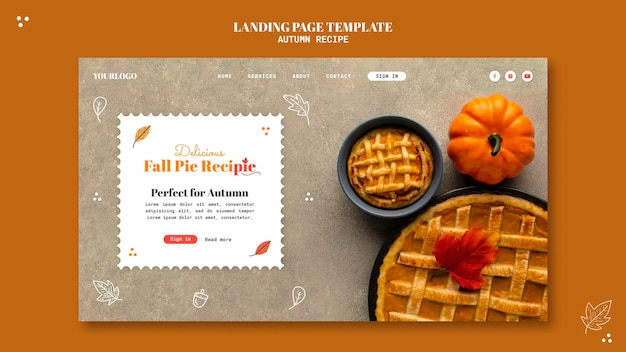Autumn recipe landing page