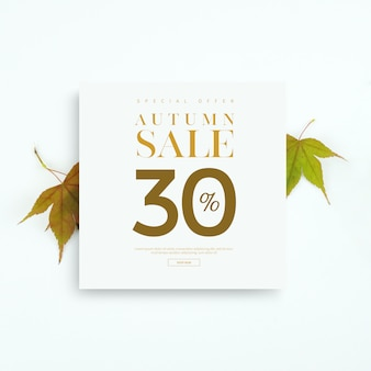 Autumn sale banner or card