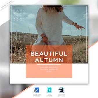 Autumn sale instagram post template