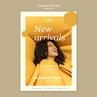 Autumn sale new arrivals flyer template