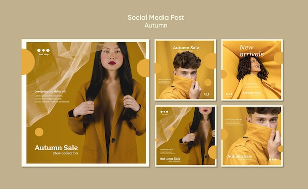 Autumn sale social media post template