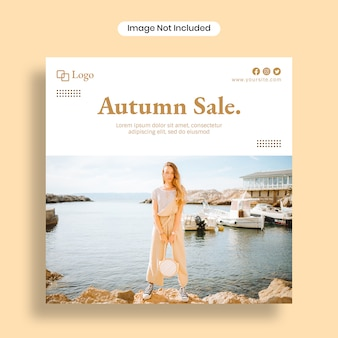 Autumn sale social media post template