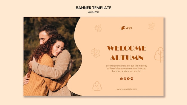 Autumn season banner template