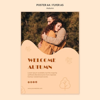 Autumn season poster template