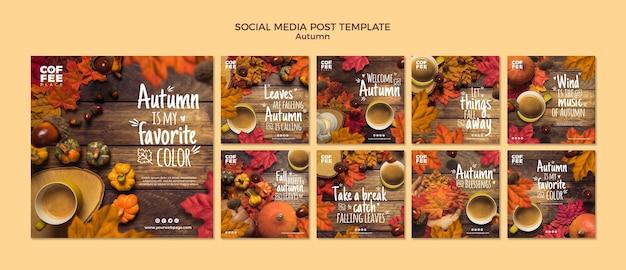 Autumn social media post