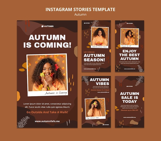 Autumn social media stories