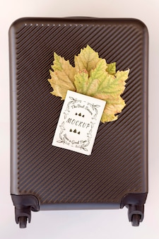 Autumn travel suitcase