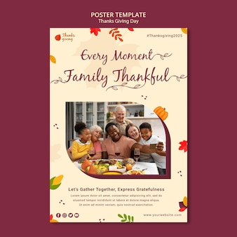 秋の感謝祭の印刷テンプレート