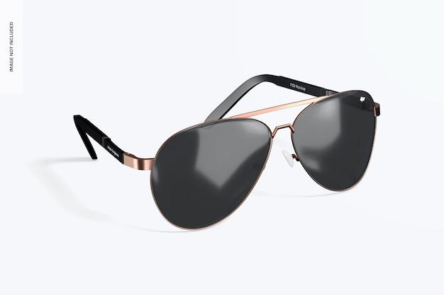 Mockup di occhiali da sole da aviatore