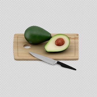 Авокадо 3d визуализации