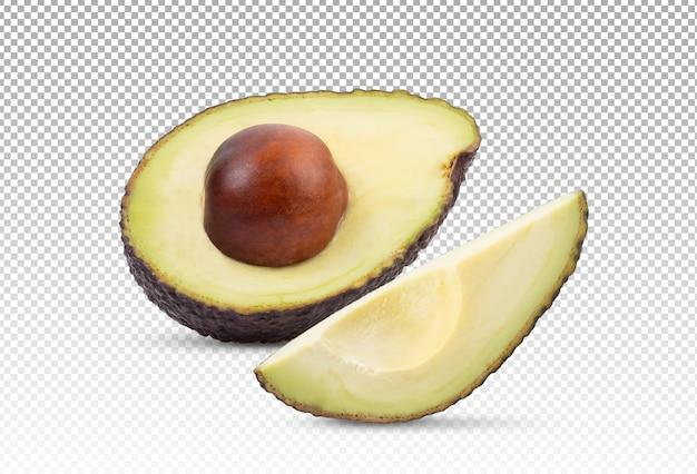 Ломтики авокадо и авокадо изолированы
