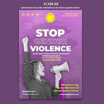 Awareness of violence against women flyer a5