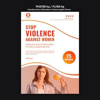 Awareness of violence against women poster a4 template
