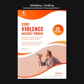 Awareness of violence against women poster a4 with photo