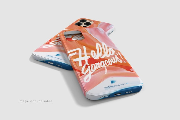 Awesome beautiful phone case mockup