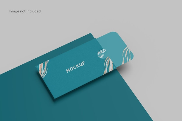 Awesome card and holder mockup
