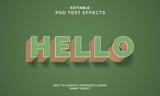 Awesome colorful hello text effect