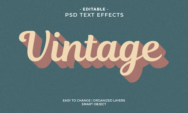 Awesome colorful vintage text effect