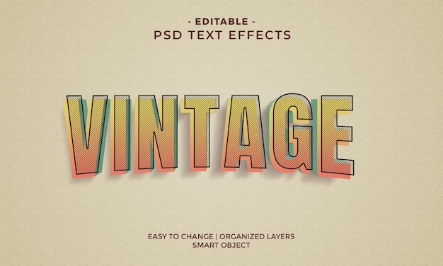 Awesome colorful vintage text effects