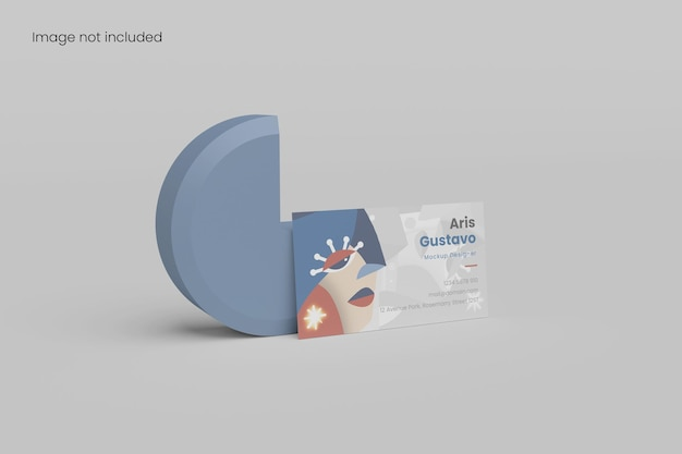 Awesome minimalist business card mockup for branding your design to clients