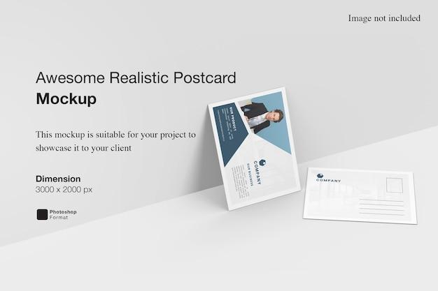 Потрясающий реалистичный макет открытки