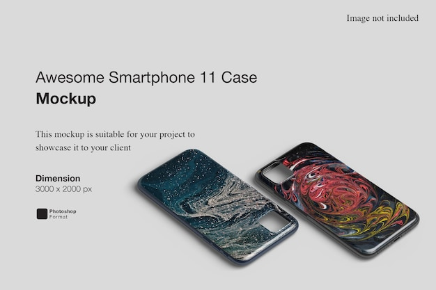 Awesome smartphone 11 case mockup