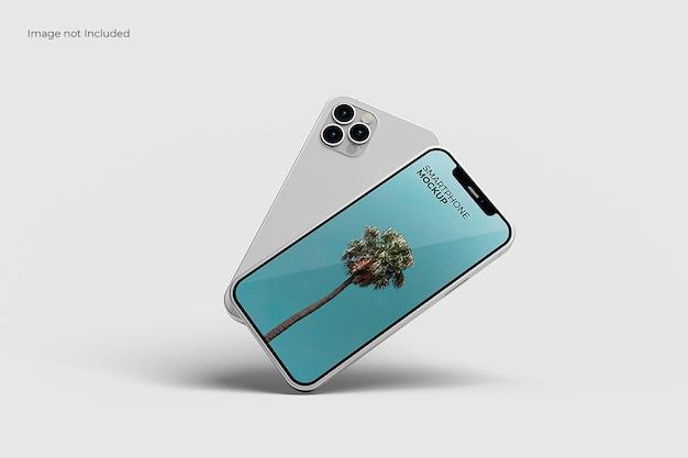 素晴らしいスマートフォンのモックアップ