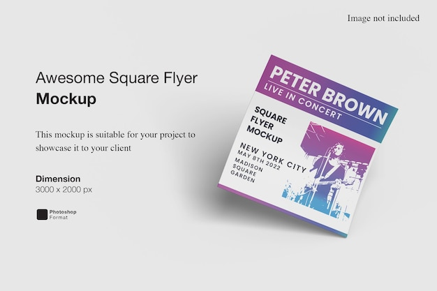 Awesome square flyer mockup Premium Psd