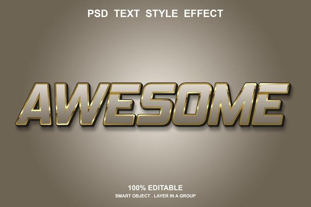 Потрясающий текстовый эффект редактируемый