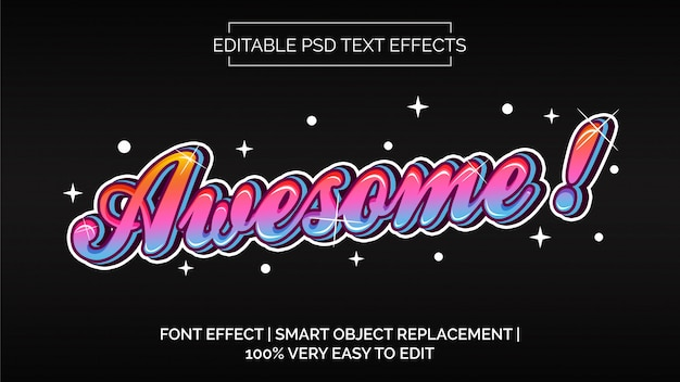 Awesome text effects style
