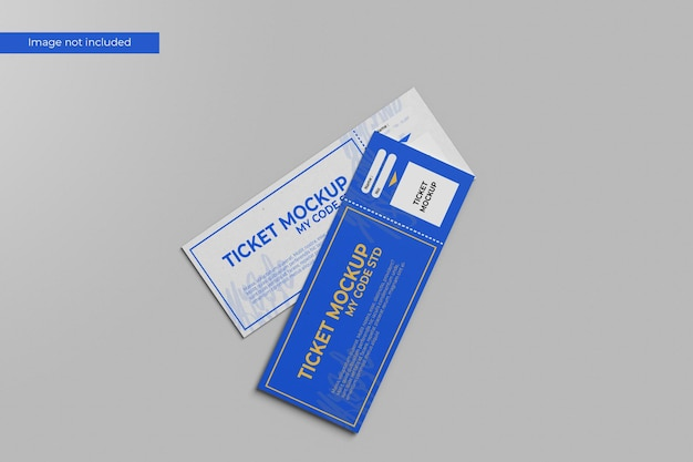 Awesome ticket mockup Premium Psd