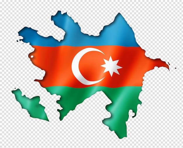 Azerbaijani flag map