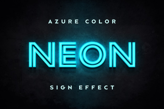 Azure non sign effect text template