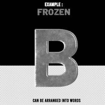 B 문자 텍스트 효과 얼음