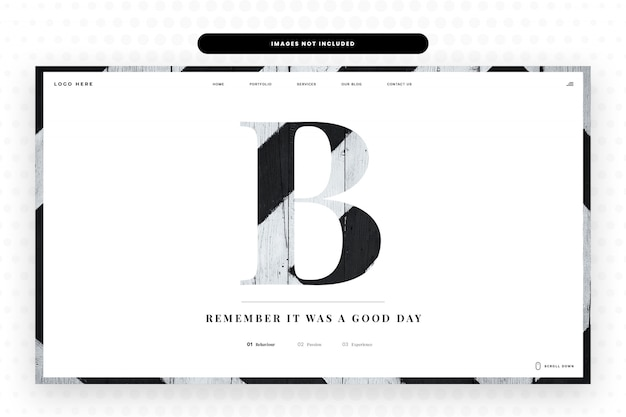 B letter website template