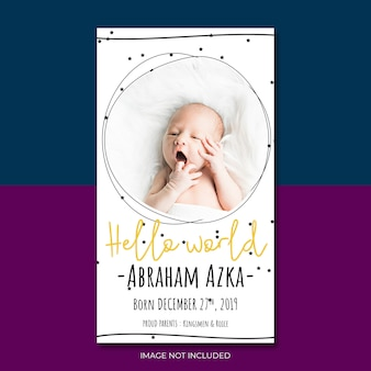Baby announcement invitation to baby shower party template