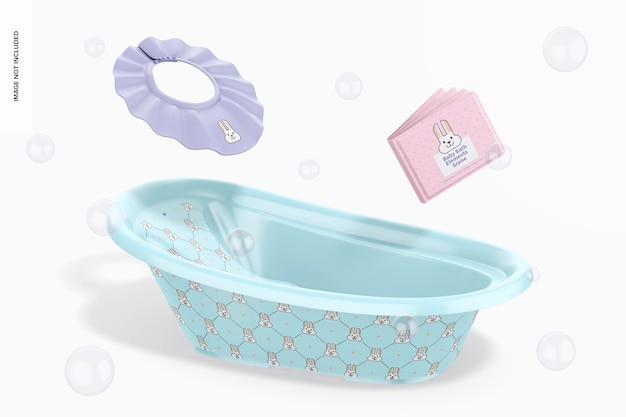 아기 목욕 요소 장면 모형, 떨어지는