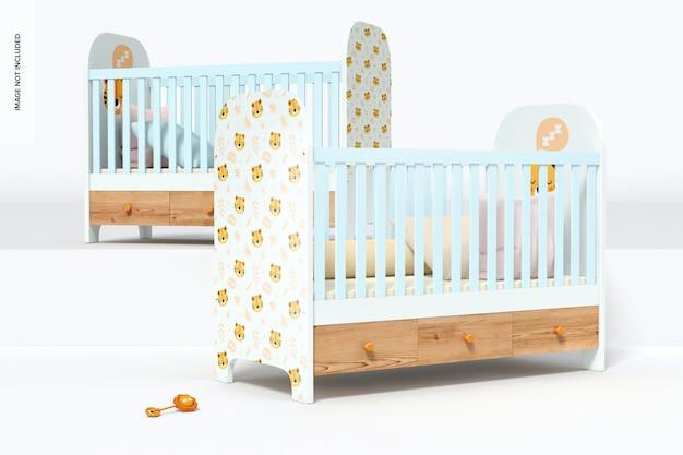 Мокап детской кроватки