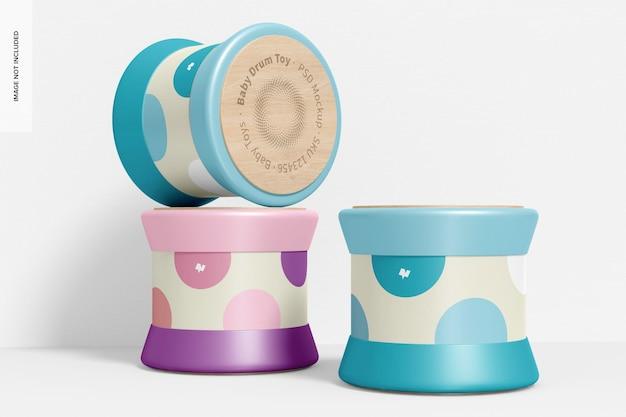 Mockup giocattolo per tamburi per bambini