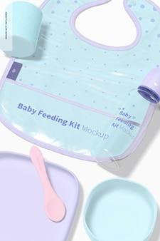 아기 수유 키트 목업, 클로즈업