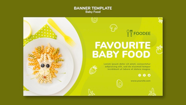 Baby food banner template style