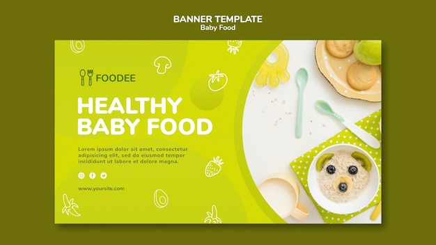 Baby food banner template