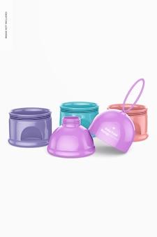 유아식 휴대용 보관 모형, 분리