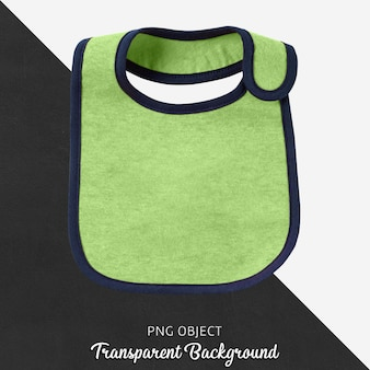 Baby green bib on transparent background
