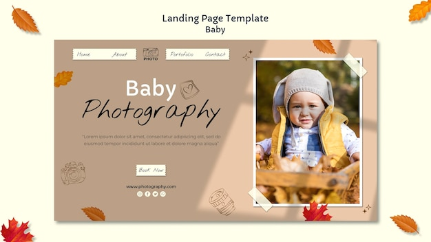Baby photography landing page