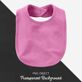 Baby pink bib on transparent background