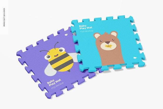 Mockup di tappetino da gioco per bambini, prospettiva